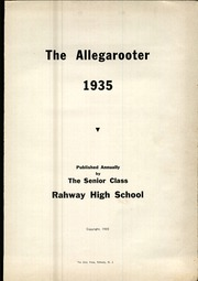 Page 5, 1935 Edition, Rahway High School - Allegarooter Yearbook (Rahway, NJ) online yearbook collection