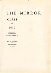 Page 7, 1932 Edition, Columbia High School - Mirror Yearbook (Maplewood, NJ) online yearbook collection