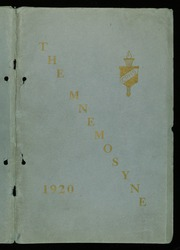 1920 Edition, Cliffside Park High School - Mnemosyne Yearbook (Cliffside Park, NJ)