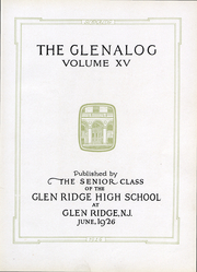 Page 12, 1926 Edition, Glen Ridge High School - Glenalog Yearbook (Glen Ridge, NJ) online yearbook collection