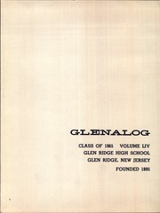 Page 6, 1965 Edition, Glen Ridge High School - Glenalog Yearbook (Glen Ridge, NJ) online yearbook collection