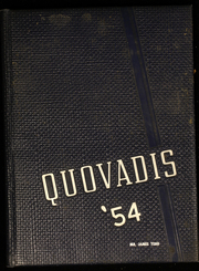 1954 Edition, Sayreville War Memorial High School - Quo Vadis Yearbook (Parlin, NJ)