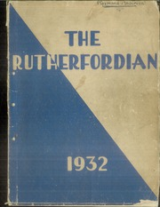1932 Edition, Rutherford High School - Rutherfordian Yearbook (Rutherford, NJ)
