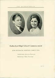 Page 13, 1932 Edition, Rutherford High School - Rutherfordian Yearbook (Rutherford, NJ) online yearbook collection