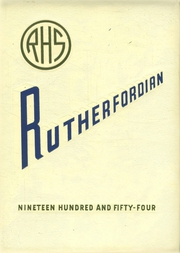 1954 Edition, Rutherford High School - Rutherfordian Yearbook (Rutherford, NJ)
