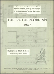 Page 5, 1957 Edition, Rutherford High School - Rutherfordian Yearbook (Rutherford, NJ) online yearbook collection