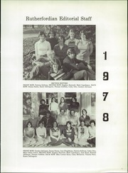 Page 9, 1978 Edition, Rutherford High School - Rutherfordian Yearbook (Rutherford, NJ) online yearbook collection