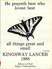 Page 5, 1988 Edition, Kingsway Regional High School - Lancer Yearbook (Swedesboro, NJ) online yearbook collection