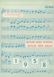 Page 6, 1958 Edition, Butler High School - Nugget Yearbook (Butler, NJ) online yearbook collection