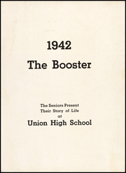Page 7, 1942 Edition, Union High School - Booster Yearbook (Union, NJ) online yearbook collection