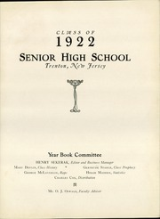 Page 7, 1922 Edition, Trenton Central High School - Bobashela Yearbook (Trenton, NJ) online yearbook collection