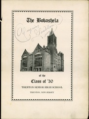 Page 7, 1930 Edition, Trenton Central High School - Bobashela Yearbook (Trenton, NJ) online yearbook collection