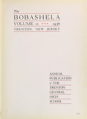 Page 7, 1936 Edition, Trenton Central High School - Bobashela Yearbook (Trenton, NJ) online yearbook collection
