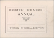 Page 7, 1916 Edition, Bloomfield High School - Memories Yearbook (Bloomfield, NJ) online yearbook collection