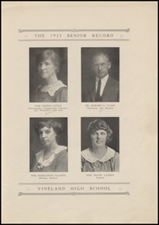 Page 15, 1923 Edition, Vineland High School - Record Yearbook (Vineland, NJ) online yearbook collection