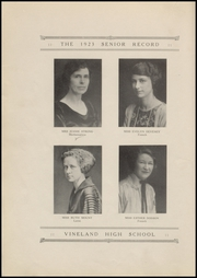 Page 16, 1923 Edition, Vineland High School - Record Yearbook (Vineland, NJ) online yearbook collection