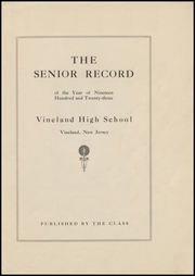 Page 7, 1923 Edition, Vineland High School - Record Yearbook (Vineland, NJ) online yearbook collection