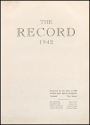 Page 9, 1942 Edition, Vineland High School - Record Yearbook (Vineland, NJ) online yearbook collection