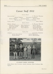 Page 11, 1932 Edition, Hackensack High School - Comet Yearbook (Hackensack, NJ) online yearbook collection