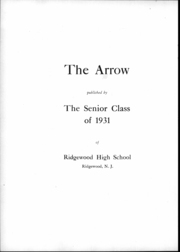 Page 7, 1931 Edition, Ridgewood High School - Arrow Yearbook (Ridgewood, NJ) online yearbook collection