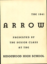 Page 7, 1941 Edition, Ridgewood High School - Arrow Yearbook (Ridgewood, NJ) online yearbook collection
