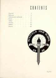 Page 9, 1940 Edition, Westfield High School - Weather Vane Yearbook (Westfield, NJ) online yearbook collection
