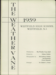 Page 7, 1959 Edition, Westfield High School - Weather Vane Yearbook (Westfield, NJ) online yearbook collection