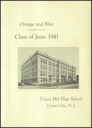 Page 5, 1941 Edition, Union Hill High School - Orange and Blue Yearbook (Union City, NJ) online yearbook collection