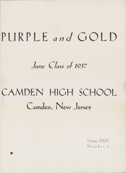 Page 7, 1937 Edition, Camden High School - Purple and Gold Yearbook (Camden, NJ) online yearbook collection
