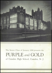 Page 7, 1938 Edition, Camden High School - Purple and Gold Yearbook (Camden, NJ) online yearbook collection