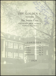 Page 7, 1959 Edition, Cranford High School - Golden C Yearbook (Cranford, NJ) online yearbook collection