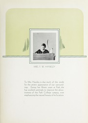 Page 9, 1930 Edition, Park University - Narva Yearbook (Parkville, MO) online yearbook collection