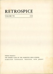 Page 7, 1938 Edition, Hamilton High School West - Retrospect Yearbook (Hamilton, NJ) online yearbook collection