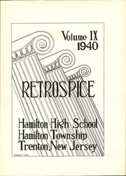 Page 7, 1940 Edition, Hamilton High School West - Retrospect Yearbook (Hamilton, NJ) online yearbook collection