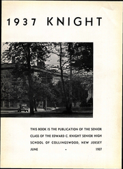 Page 9, 1937 Edition, Collingswood High School - Knight Yearbook (Collingswood, NJ) online yearbook collection