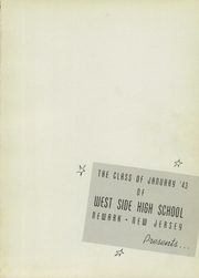 Page 5, 1943 Edition, West Side High School - Yearbook (Newark, NJ) online yearbook collection