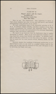 Page 16, 1922 Edition, Ridgefield Park High School - Idler Yearbook (Ridgefield Park, NJ) online yearbook collection