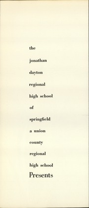 Page 5, 1960 Edition, Jonathan Dayton High School - Regionalogue Yearbook (Springfield, NJ) online yearbook collection