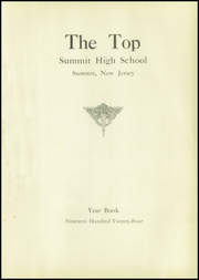 Page 5, 1924 Edition, Summit High School - Top Yearbook (Summit, NJ) online yearbook collection
