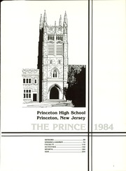 Page 5, 1984 Edition, Princeton High School - Prince Yearbook (Princeton, NJ) online yearbook collection
