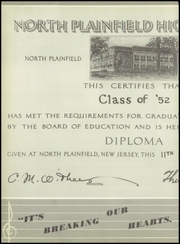 Page 14, 1952 Edition, North Plainfield High School - Canuck Yearbook (North Plainfield, NJ) online yearbook collection