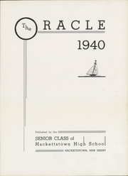 Page 9, 1940 Edition, Hackettstown High School - Oracle Yearbook (Hackettstown, NJ) online yearbook collection