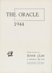 Page 15, 1944 Edition, Hackettstown High School - Oracle Yearbook (Hackettstown, NJ) online yearbook collection