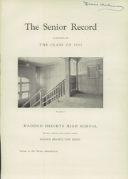 Page 5, 1935 Edition, Haddon Heights High School - Garneteer Yearbook (Haddon Heights, NJ) online yearbook collection