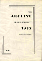 Page 7, 1932 Edition, St Louis University - Archive Yearbook (St Louis, MO) online yearbook collection
