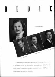 Page 5, 1941 Edition, Audubon High School - Le Souvenir Yearbook (Audubon, NJ) online yearbook collection