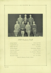 Page 12, 1929 Edition, Verona High School - Shadows Yearbook (Verona, NJ) online yearbook collection