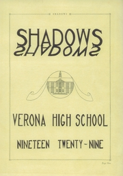 Page 5, 1929 Edition, Verona High School - Shadows Yearbook (Verona, NJ) online yearbook collection