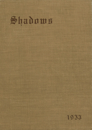 1933 Edition, Verona High School - Shadows Yearbook (Verona, NJ)