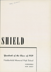 Page 5, 1939 Edition, Haddonfield Memorial High School - Shield Yearbook (Haddonfield, NJ) online yearbook collection